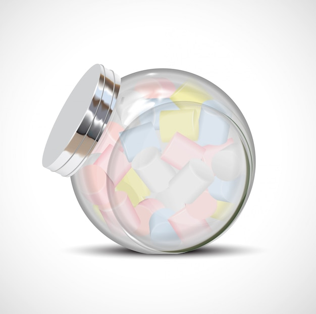 Candy marshmallow flasche