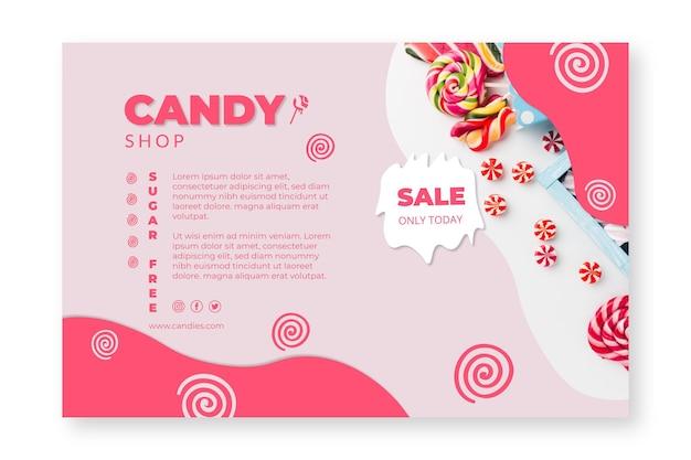 Candy shop banner vorlage
