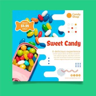 Candy shop flyer vorlage