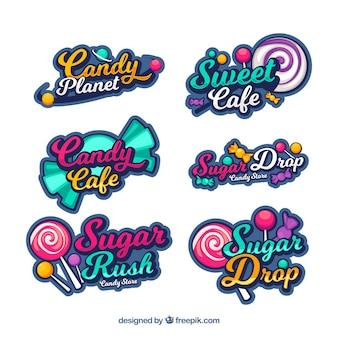 Candy Shop Logos Sammlung für Unternehmen