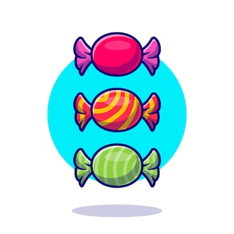 Candy wrapper cartoon icon illustration.