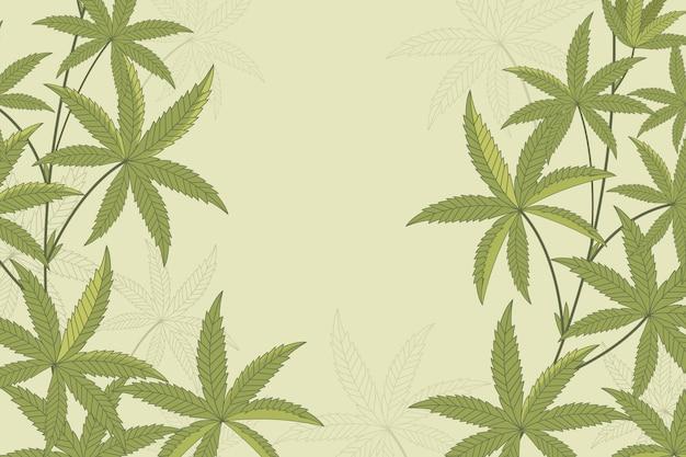 Cannabis hinterlässt hintergrund