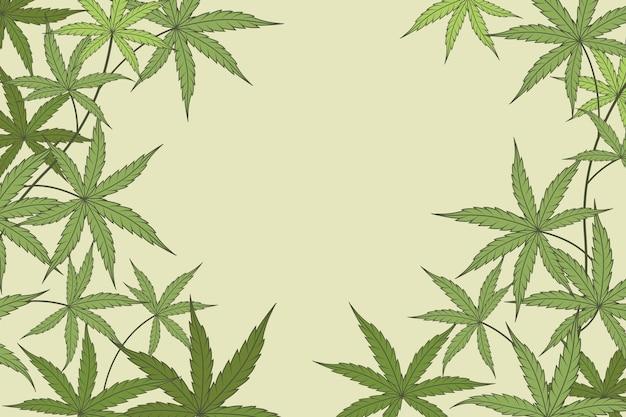 Cannabis hinterlässt hintergrunddesign