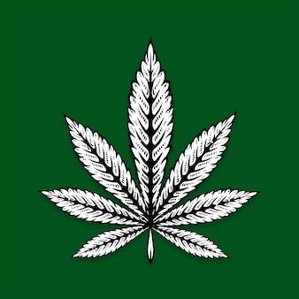 Cannabis illustration medizinischer gebrauch