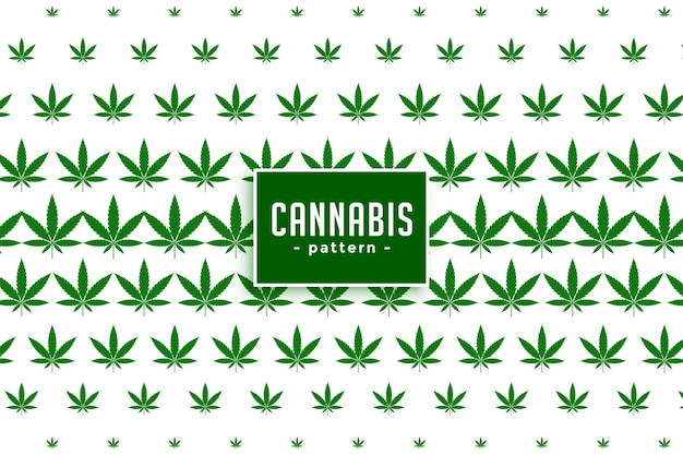 Cannabis marihuana verlässt musterhintergrund