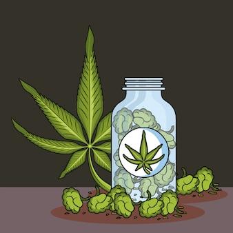 Cannabis-medizinische cartoons