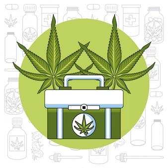 Cannabis medizinisches konzept
