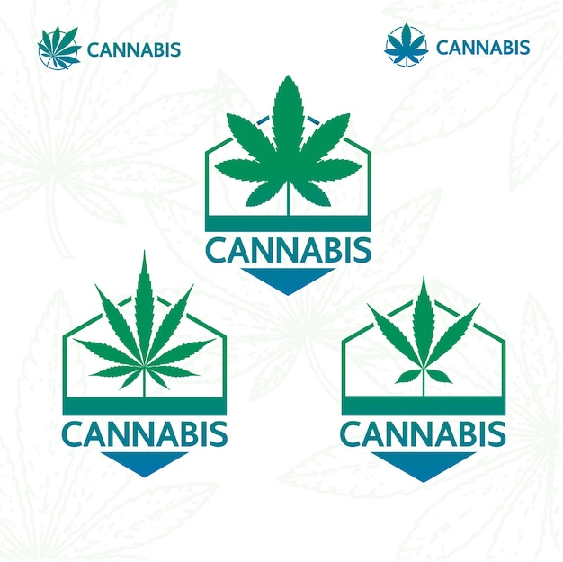 Cannabis-pflanzenlogo