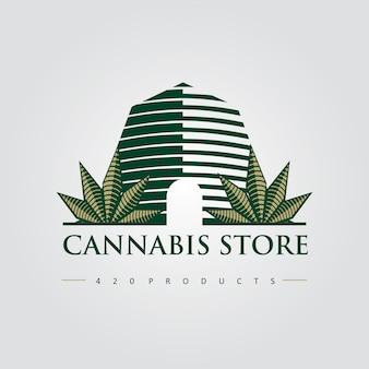 Cannabis store 420 premium logo