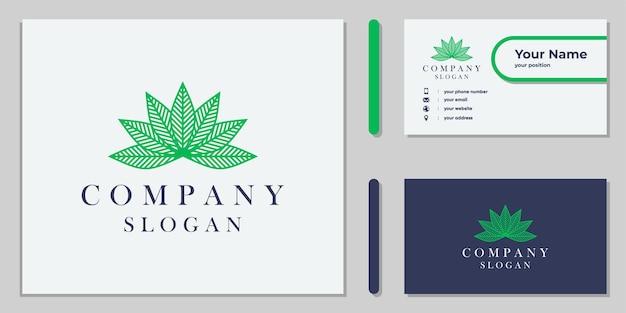 Cannabisblatt-logo-design für unternehmen und medizin
