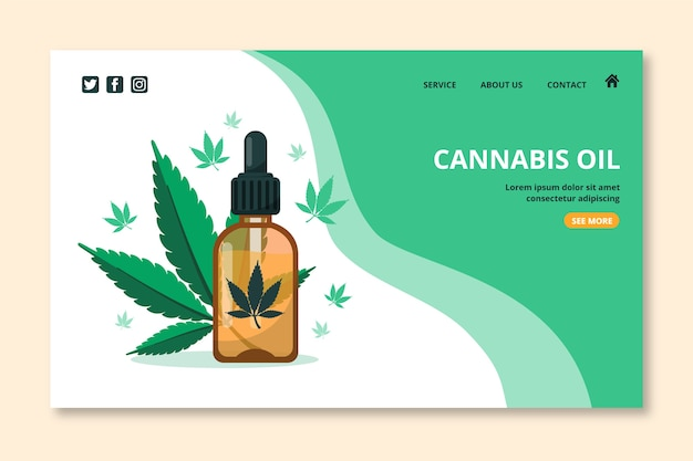 Cannabisöl-landingpage Kostenlosen Vektoren