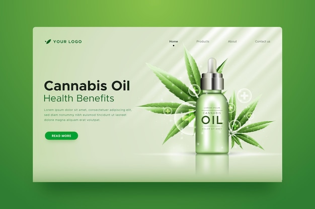Cannabisöl - landingpage