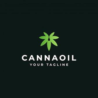 Cannabisöl, marihuana-blatt, cbd, hanf-topf-logo-design