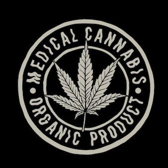 Cannabispflanze emplem
