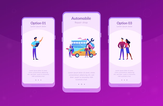 Car service app schnittstellenvorlage.
