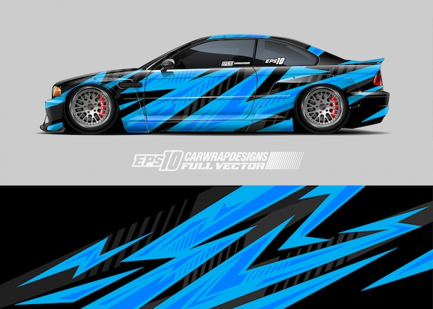Car wrap aufkleber design