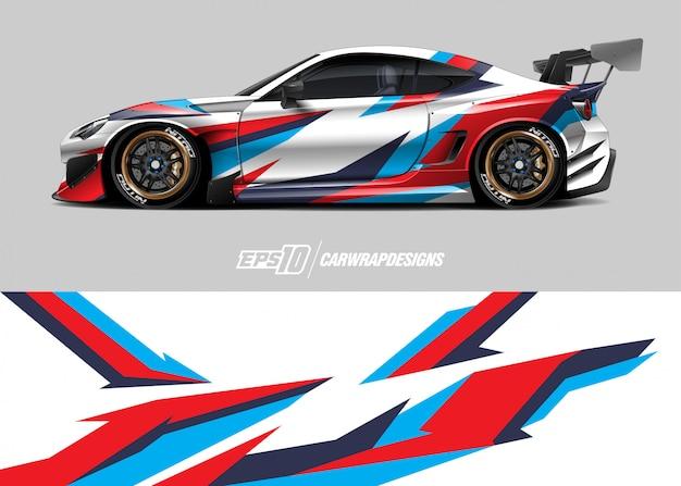 Car wrap design für rennen