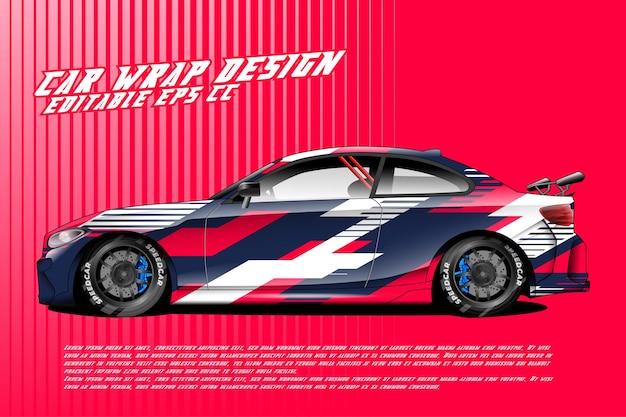 Car wrap-design mit abstraktem textur-rennstil