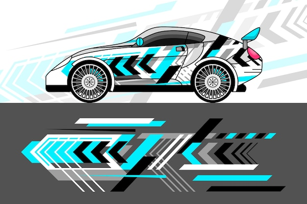 Car wrap design-stil