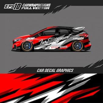 Car wrap designs für rennwagen