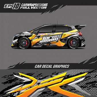 Car wrap designs für rennwagen