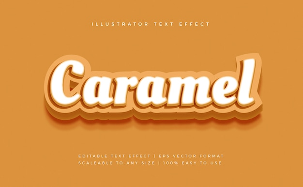 Caramel soft text style schrifteffekt