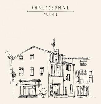 Carcassonne hintergrund-design