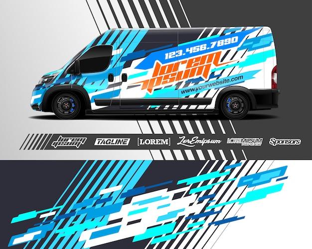 Cargo van wrap illustration
