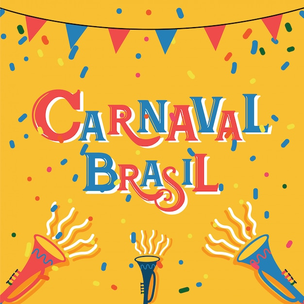 Carnaval brasil celebration background mit bunten partei-elementen ereignis in brasilien