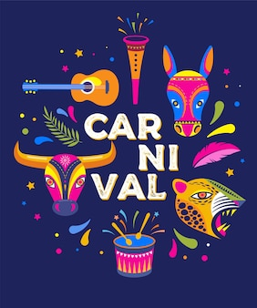 Carnaval de barranquilla, kolumbianische karnevalsparty.