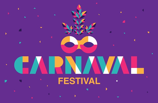 Carnaval typografie, populäres ereignis in brasilien.