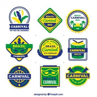Carnival etikette und abzeichen packung