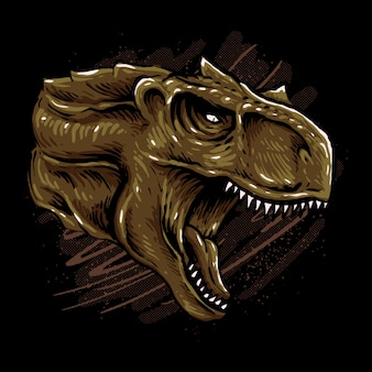 Carnotaurus-kopfillustration