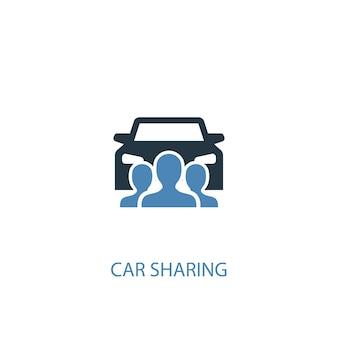 Carsharing-konzept 2 farbiges symbol. einfache blaue elementillustration. carsharing-konzept symboldesign. kann für web- und mobile ui/ux verwendet werden