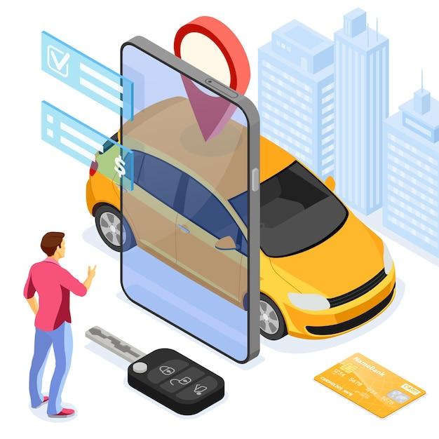 Carsharing-servicekonzept.