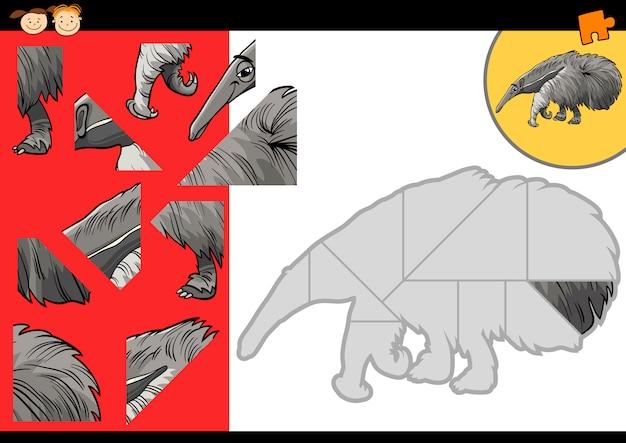 Cartoon ameisenbär puzzle-spiel