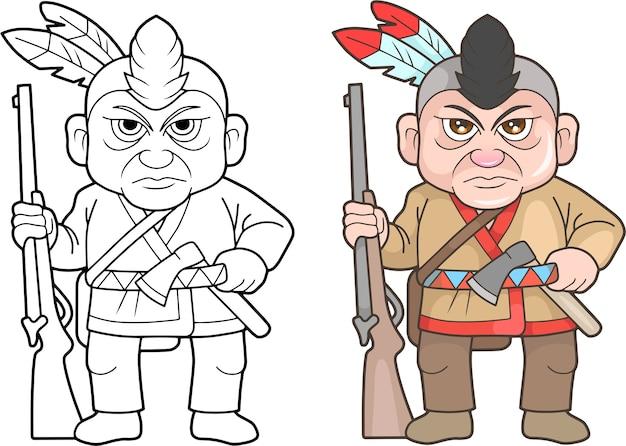 Cartoon amerikanischer soldat illustration