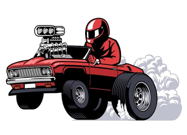 Cartoon amerikanisches mucle-auto