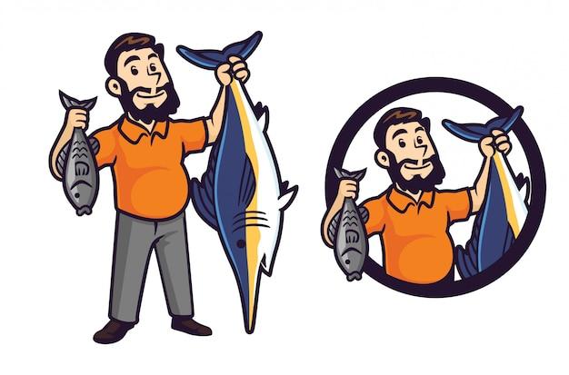 Cartoon angeln und abenteuer