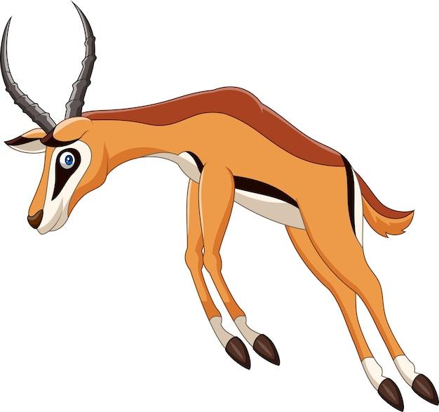 Cartoon-antilopen-springen