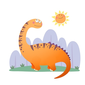 Cartoon argentinosaurus dinosaurier