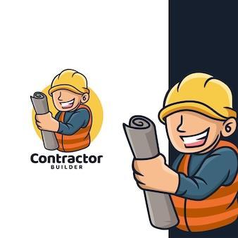 Cartoon auftragnehmer logo