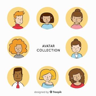 Cartoon-avatar-sammlung