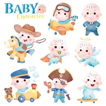 Cartoon-baby-charakter süßes baby