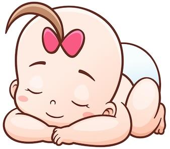 Cartoon Baby schläft