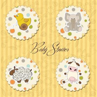 Cartoon baby spielzeug artikel sammlung