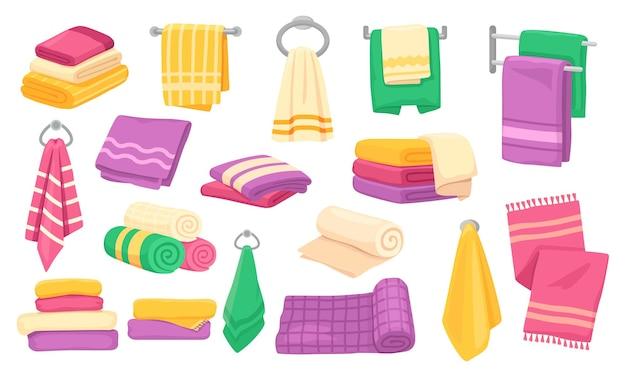 Cartoon bad küche gerollte hängende handtücher set