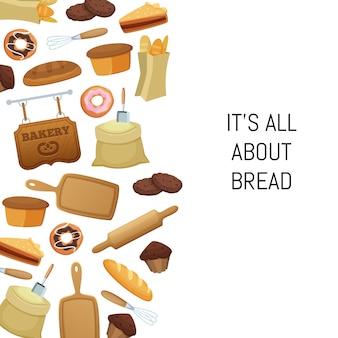 Cartoon bäckerei essen festgelegt