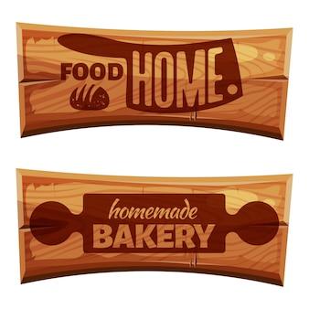 Cartoon-bäckerei-etiketten