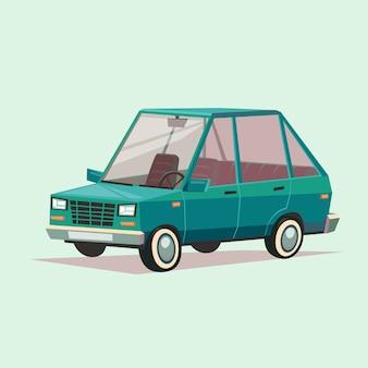 Cartoon blaues auto